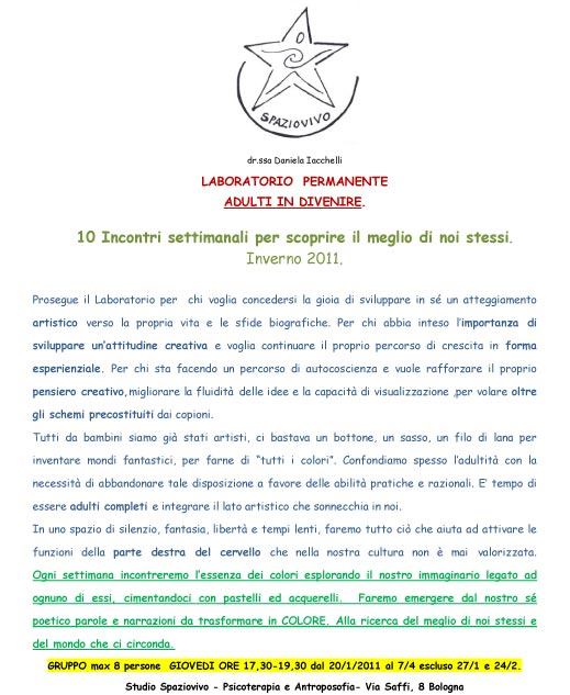 laboratorio-creativita-daniela-iacchelli-psicoterapeuta-bologna-2 L'Arte di Vivere 2011