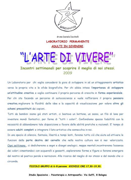 laboratorio-creativita-daniela-iacchelli-psicoterapeuta-bologna L'Arte di Vivere 2009
